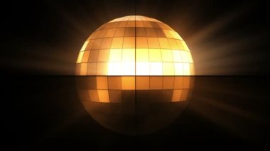 Boule disco orange — Vidéo