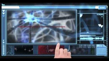 Hand using digital medical interface — Stock Video