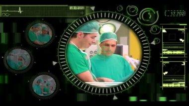 Hand välja olika kirurgiska videor från menyn — Stockvideo