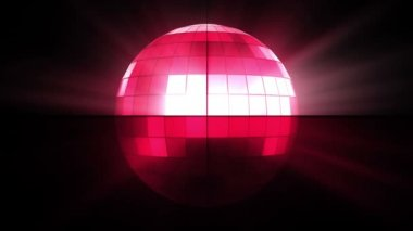 Pink disco ball — Stock Video