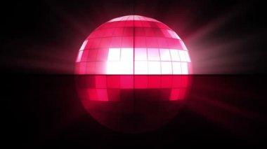 Rosa disco-kugel — Stockvideo