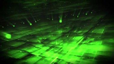 Grüne formen drehen — Stockvideo