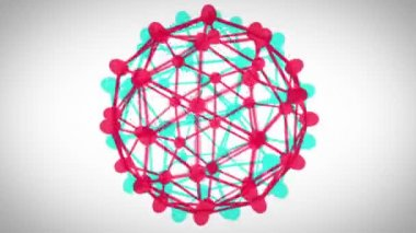 Revolving connected sphere — Vídeo de Stock