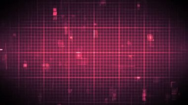 Fast heart rate on moving grid background — Stock Video