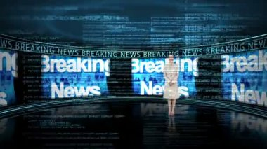 Breaking news showing statistics — Stock Video