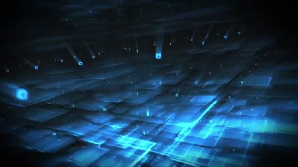 Formes bleus tournant — Vidéo