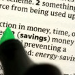 Stock Video: Savings highlighted