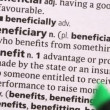 图库视频影像: Benefit highlighted in green