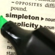 Stock Video: Simplicity highlighted in green