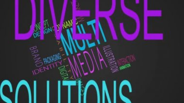 Multimedia buzzwords montage — Stock Video