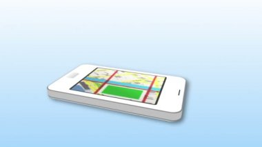 Using smartphone as an interactive map — Stock Video #25682507