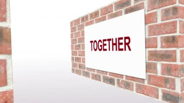 Animation of together everyone achieves more teamwork — Stock Video