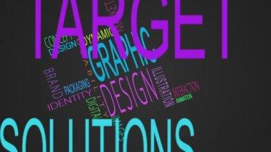 Graphic design buzzwords montage — Stock Video