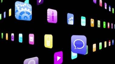 Icone di applicazione ad incastro — Video Stock