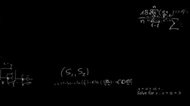 出现在船上的粉笔的数学方程 — 图库视频影像