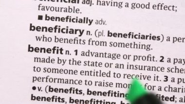 Benefit highlighted in green — Stock Video