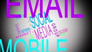 Social media buzzwords montage — Stock Video