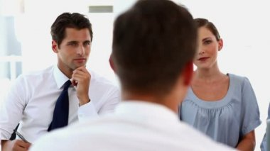 Business doing a job interview — Stock Video