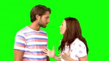 Vrouw vertelde haar vriend een massale geheim — Stockvideo