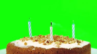 Birthday candles being blown out — Stock Video
