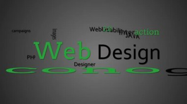Web design terms appearing together — Vídeo de stock #25689271