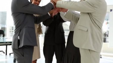 Zakelijke team bonding samen — Stockvideo