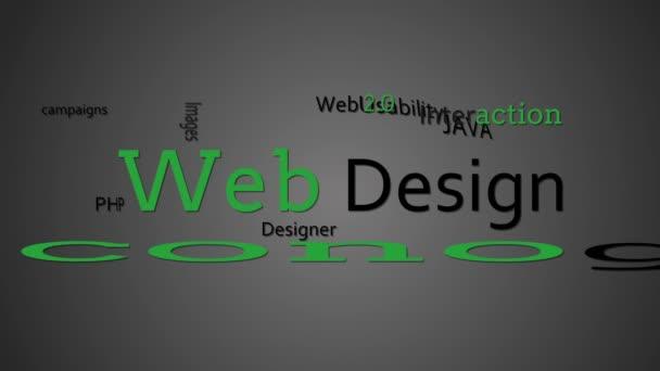 Termes de conception web apparaissent ensemble — Vidéo