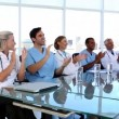 Medical team applauding — Stock Video