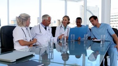 Medical team during a meeting — Stock Video