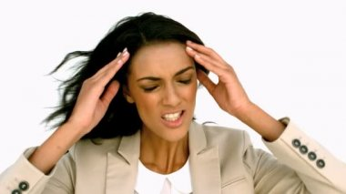 Businesswoman angrily shaking her head — Stock Video