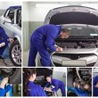 Collage of mechanics at work — Stockfoto #25717553