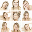 Collage of attractive blonde woman — Stock Photo #25717575