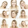 Stock Photo: Collage of attractive blonde woman