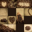 Stock Photo: Collage of coffee beans
