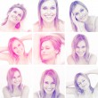 Collage of attractive blonde woman gesturing — Stock Photo #25718333