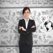 Businesswoman with folded arms — Stock Photo