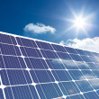 Solar panel reflecting sunlight — Stock Photo