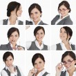 Collage of brunette businesswoman — Stock Photo #25718969