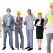 Team of architects in a row — Stock Photo