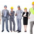 Team of architects in a row — Stock Photo #25719099