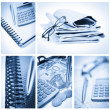Collage of business stuff — Stock Photo