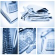 Stock Photo: Collage of business stuff