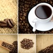 Various pictures representing coffee — Stock Photo