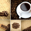 Stock Photo: Various pictures representing coffee