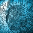 Stock Photo: Illustration of blue fingerprint