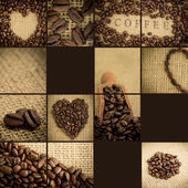 Collage of coffee beans — Stock Photo