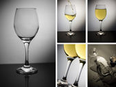 Collage of wine glass — Stock Photo