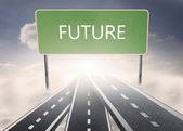 Signpost showing the direction of the future — Stock Photo