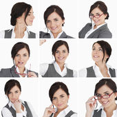 Collage of brunette businesswoman — Stock Photo