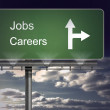 Signpost showing the direction of jobs and careers — Stock Photo
